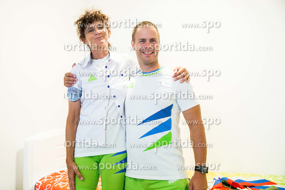 Prof. dr. Helena Burger and Dejan Fabcic, dr. med.  of Slovenia in the Paralympic Village 3 days ahead of the Rio 2016 Summer Paralympics Games on September 4, 2016 in Rio de Janeiro, Brazil. Photo by Vid Ponikvar / Sportida