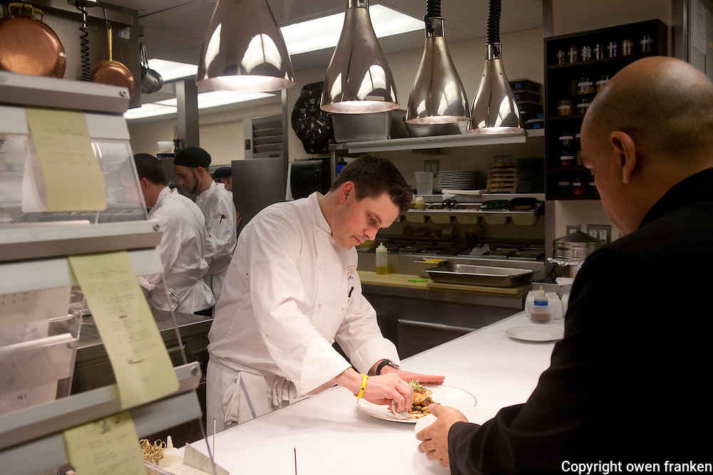 .the kitchen of Cafe Boulud, NYC...Chef Gavin Kaysen .