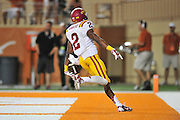 AUSTIN, TX - OCTOBER 18:  Aaron Wimberly #2 of the Iowa State Cyclones scores a touchdown against the Texas Longhorns on October 18, 2014 at Darrell K Royal-Texas Memorial Stadium in Austin, Texas.  (Photo by Cooper Neill/Getty Images) *** Local Caption *** Aaron Wimberly