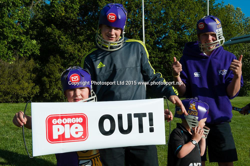 Fans during the Georgie Pie Super Smash Twenty20 cricket game, Canterbury V Otago, at Hagley Oval, Christchurch. 12th November 2015. Copyright Photo: John Davidson/www.photosport.nz