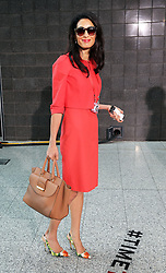 Image licensed to i-Images Picture Agency. 12/06/2014. George Clooney's fiance Amal Alamuddin on day three of the End Sexual Violence in Conflict  Global Summit in London.  Picture by Stephen Lock / i-Images