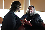 "Author of ""Natural Born Killers,"" David Schmid speaks with Max Calenberg before his talk at Grinnell College, August 28, 2010."