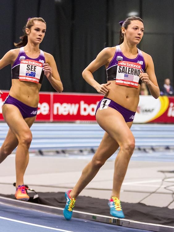 New Balance Indoor Grand Prix Track & FIeld:   Women's 2000 meters, Salerno