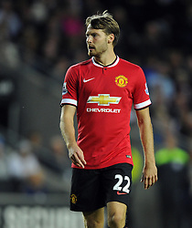 Manchester United's Nick Powell - Photo mandatory by-line: Joe Meredith/JMP - Mobile: 07966 386802 26/08/2014 - SPORT - FOOTBALL - Milton Keynes - Stadium MK - Milton Keynes Dons v Manchester United - Capital One Cup