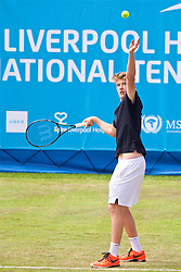 LIVERPOOL, ENGLAND - Friday, June 16, 2017: Adam Jones (GBR) during Day Two of the Liverpool Hope University International Tennis Tournament 2017 at the Liverpool Cricket Club. (Pic by David Rawcliffe/Propaganda)