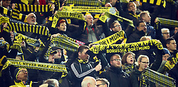 November 21, 2017 - Dortmund, Germany - Borussia Dortmund Fans.during UEFA Champion  League Group H Borussia Dortmund between Tottenham Hotspur played at Westfalenstadion, Dortmund, Germany 21 Nov 2017  (Credit Image: © Kieran Galvin/NurPhoto via ZUMA Press)