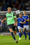 AFC Wimbledon midfielder Mitchell Pinnock (11) during the EFL Sky Bet League 1 match between Ipswich Town and AFC Wimbledon at Portman Road, Ipswich, England on 20 August 2019.
