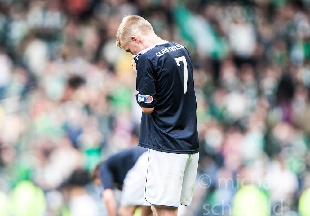 Falkirk's Craig Sibbald at the end..Hibernian 4 v 3 Falkirk, William Hill Scottish Cup Semi Final, Hampden Park...