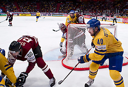 15.05.2012, Ericsson Globe, Stockholm, SWE, IIHF, Eishockey WM, Schweden (SWE) vs Lettland (LVL), im Bild Sverige Sweden 40 Henrik Zetterberg // during the IIHF Icehockey World Championship Game between Schweden (SWE) vs Latvia (LVL) at the Ericsson Globe, Stockholm, Sweden on 2012/05/15. EXPA Pictures © 2012, PhotoCredit: EXPA/ PicAgency Skycam..***** ATTENTION - OUT OF SWE *****