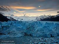 The vast, awe inspiring Perito Moreno glacier, one of the few glaciers in the world that is still advancing.