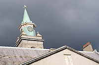 Clock tower at The Irish Museum of Modern Art Royal Hospital Kilmainham in Dublin Ireland