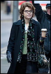 Vicky Pryce  arrives at Southwark Crown Court for the start of her Trial. Chris Huhne's ex-wife Vicky Pryce is on trial over a speeding offence a decade ago. Pryce denies perverting the course of justice by taking Huhne's points in March 2003. He dramatically changed his plea to guilty, then resigned as an MP, at the start of their joint trial yesterday, Southwark Crown Court, London, Tuesday February 5, 2013. Photo By Andrew Parsons / i-Images