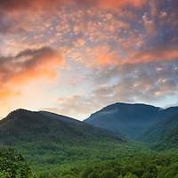 Sunrise view of Mt. LeConte as seen from Campbell Overlook, Great Smoky Mountains National Park.