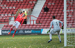 WREXHAM, WALES - Thursday, November 10, 2016: Wales' Nathan Broadhead in action against Greece during the UEFA European Under-19 Championship Qualifying Round Group 6 match at the Racecourse Ground. (Pic by Gavin Trafford/Propaganda)