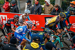 Peloton with GESINK Robert of Team LottoNL-Jumbo during 2nd lap on local circuit, UCI Men WorldTour 81st La Flèche Wallonne at Huy Belgium, 19 April 2017. Photo by Pim Nijland / PelotonPhotos.com | All photos usage must carry mandatory copyright credit (Peloton Photos | Pim Nijland)