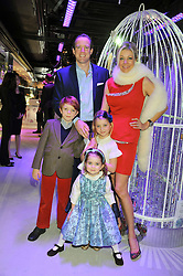 NADJA SWAROVSKI, her husband RUPERT ADAMS and their children RIGBY, JASMINE (in blue dress) and THALIA at a reception to celebrate the launch of 'A Crystal Christmas'  - inspired by Swarovski and held at Harrods, Knightsbridge, London on 8th November 2011.  Following the reception a private dinner was held at One Hyde Park, Knightsbridge.