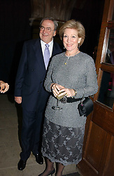 KING CONSTANTINE OF GREECE and  QUEEN ANNE-MARIE OF GREECE at The Magic of Winter ball in aid of the charity KIDS held at The Royal Courts of Justice, London on 2nd Ferbruary 2005.<br />