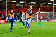 Eden Hazard (10) of Chelsea and David Luiz (30) of Chelsea during the warm up before the Premier League match between Bournemouth and Chelsea at the Vitality Stadium, Bournemouth, England on 30 January 2019.