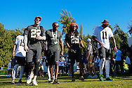 January 29 2016: Team Irvin Pro Bowlers Richard Sherman, Harrison Smith, Julio Jones, and assistant coach Darren Woodson arrive for Pro Bowl practice at Turtle Bay Resort on Oahu, HI. (Photo by Aric Becker)