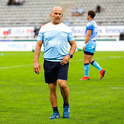 Yannick BRU head coach of Bayonne during the Top 14 match between Bayonne and Montpellier on October 12, 2019 in Bayonne, France. (Photo by JF Sanchez/Icon Sport) - Yannick BRU - Stade Jean Dauger - Bayonne (France)
