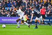 Leeds United forward Eddie Nketiah (14) in action during the EFL Sky Bet Championship match between Millwall and Leeds United at The Den, London, England on 5 October 2019.