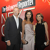 HONG KONG - MARCH 24:  Hollywood Reporter's Senior VP, Publishing Director Eric Mika (L) and Indian actress and former Miss World Priyanka Chopra attend The Hollywood Reporter Next Gen Asia Launch Cocktail Reception event at the W Hotel Kowloon on March 24, 2009 in Hong Kong. The initiative has recognised over 500 individuals under 35 over the last 15 years, and is run in conjunction with the Hong Kong International Film Festival.  Photo by Victor Fraile / studioEAST
