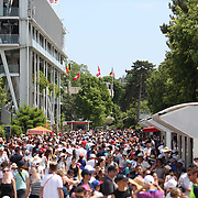 2017 French Open Tennis Tournament - Children's Day.  Large crowds attending Children's Day at the 2017 French Open Tennis Tournament at Roland Garros on May 27th, 2017 in Paris, France.  (Photo by Tim Clayton/Corbis via Getty Images)