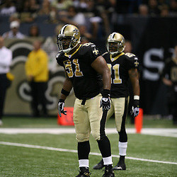 2007 October, 21: New Orleans Saints defensive end Will Smith (91) awaits a play during a 22-16 win by the New Orleans Saints over the Atlanta Falcons at the Louisiana Superdome in New Orleans, LA.