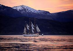 , Argentina - 3/19/2010 - Sagres Ship in Ushuaia Bay(Photo by Gustavo Enzo Masini /VWPics) *** Please Use Credit from Credit Field *** *** Please Use Credit from Credit Field ***