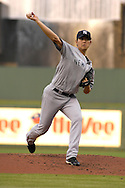 July 24, 2007 - Kansas City, MO..New York Yankees pitcher Chin-Ming Wang delivers a pitch in the first inning against the Kansas City Royals at Kauffman Stadium in Kansas City, Missouri on July 24, 2007...MLB:    .Photo by Peter G. Aiken/Cal Sport Media