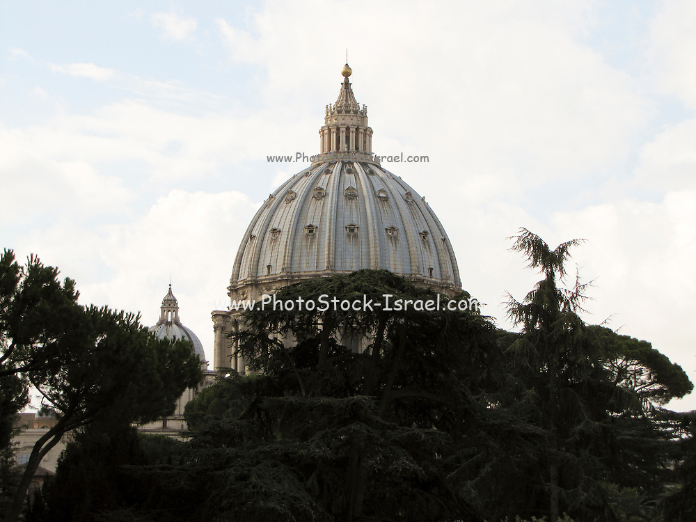 Italy, Rome, Vatican, St. Pietro (St Peter's) Dome Exterior