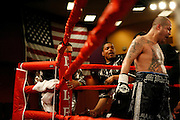 Steven St. John/Tribune..Johnny Tapia exits his corner for the start of the tenth round, possibly his last as a professional fighter on Friday night, Feb. 22, 2007 at Isleta Casino.
