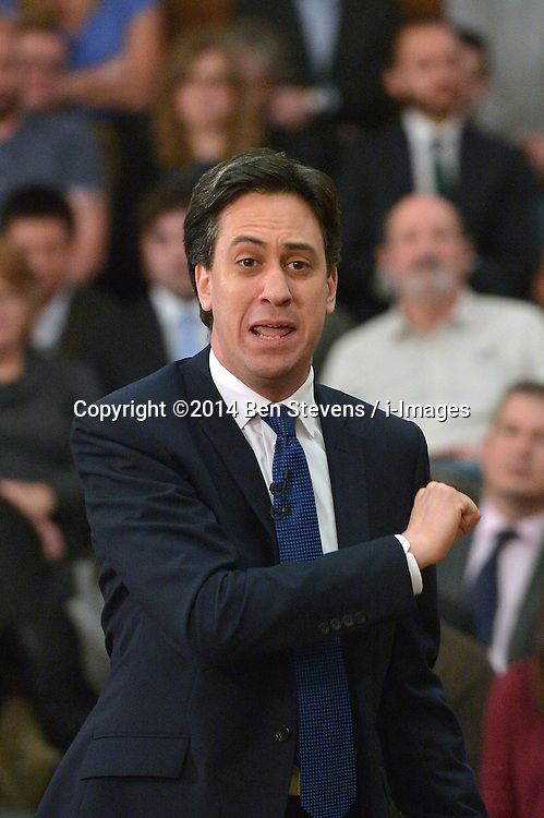 Ed Miliband MP delivers a Speech on the Economy to an audience in Senate House, University of London, UK.<br />  Friday, 17th January 2014. Picture by Ben Stevens / i-Images