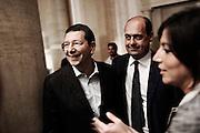 Ignazio Marino con Nicola Zingaretti durante i festeggiamenti per l'elezione a nuovo sindaco di Roma  . Roma, 10 giugno 2013. Christian Mantuano / OneShot