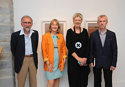 Pictured at the opening of 'Silent Notes' an exhibition of new paintings by Deirdre Walsh and Lynda Huxley's Photography of Lough Carra at the Custom House Studios were Chris and Lynda Huxley , Deirdre Walsh and guest speaker Sean Lysaght. The exhibition continues until at the gallery until the 18th of September.<br /> Pic Conor McKeown