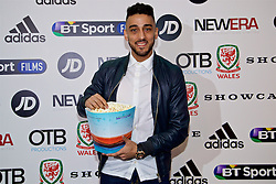 NANTGARW, WALES - Wednesday, March 1, 2017: Wales and Aston Villa player Neil Taylor attends the premier of Don't Take Me Home - the incredible true story of Wales' Euro 2016 at Showcase Cinema Nantgarw on St. David's Day. (Pic by David Rawcliffe/Propaganda)