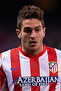 MADRID, SPAIN- FEBRUARY 24: Koke of Club Atletico de Madrid looks on during the Liga BBVA between Atletico de Madrid and RCD Espanyol at the Vicente Calderon stadium on February 24, 2013 in Madrid, Spain. (Photo by Aitor Alcalde Colomer).