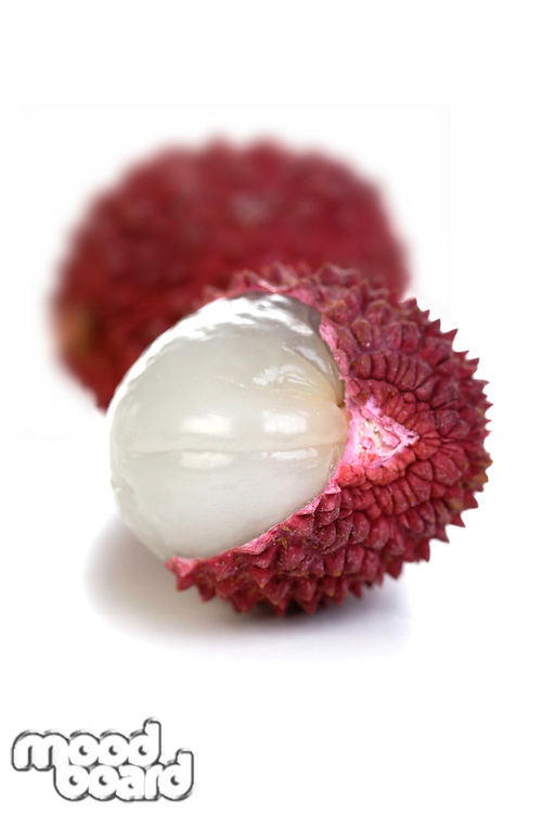 Close-up of lichee fruit - studio shot