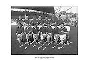 Signed team photo of Down, 1961 All-Ireland Football Champions.