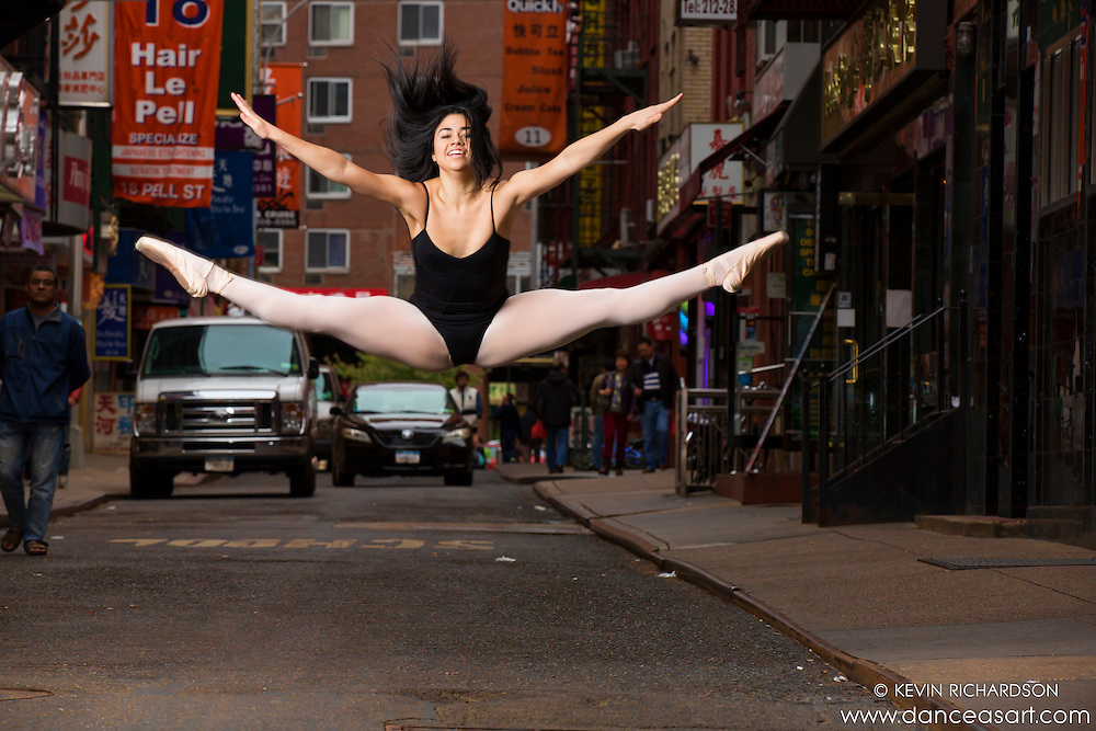 Chinatown New York City Dance As Art Photography featuring dancer Nina Cabezas