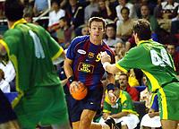 Håndball, 26. oktober 2002. Spanske eliteserie, Barcelona - Galdar 32-25. Frode Hagen, Barcelona.