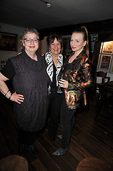 Left to right, JO BRAND, BARONESS HELENA KENNEDY and JUDITH OWEN at the gala night party of Losing It staring Ruby Wax held at he Menier Chocolate Factory, 51-53 Southwark Street, London SE1 on 23rd February 2011.