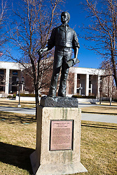 Statue of Abraham Van Santvoord Curry in front of the Nevada Supreme Court, Carson City, NV.