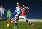 AINSLEY MAITLAND-NILES during the Barclays U21 Premier League match between Brighton U21 and Arsenal U21 at the American Express Community Stadium, Brighton and Hove, England on 1 December 2014.
