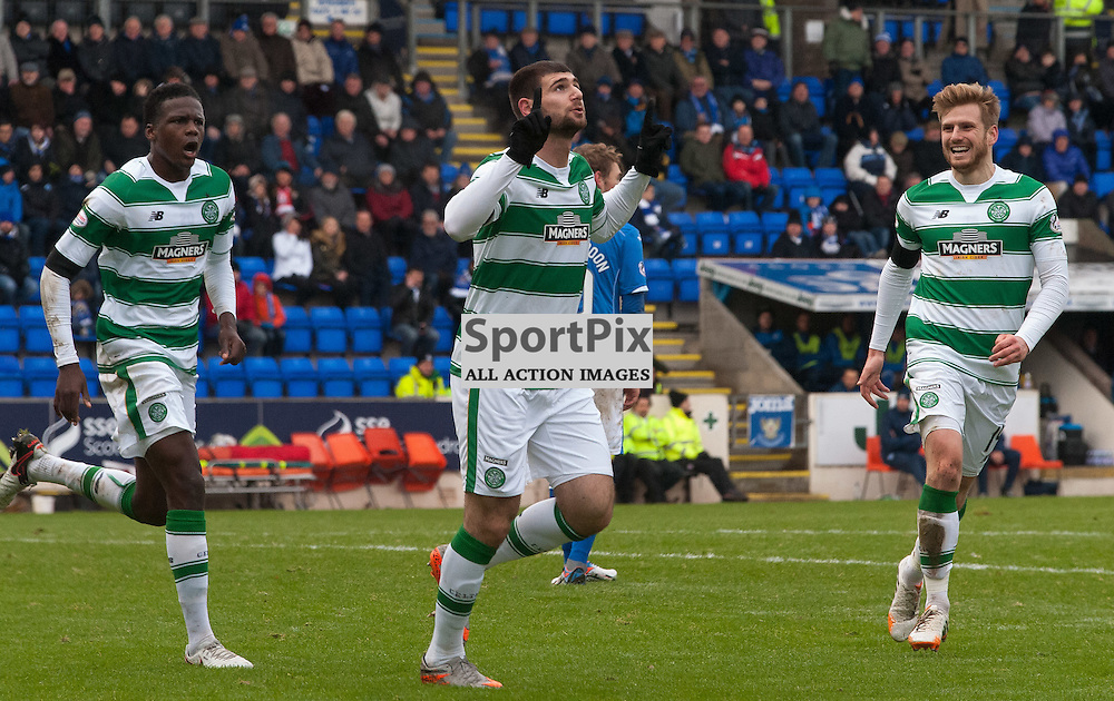 #7 Nadir Ciftci (Celtic, centre) celebrates<br /> <br /> St Johnstone v Celtic &bull; Ladbrokes Premiership &bull; 13 December 2015<br /> <br /> &copy; Russel Hutcheson | SportPix.org.uk