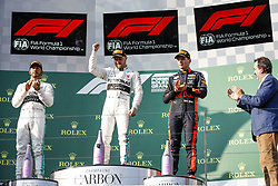 March 17, 2019 - Melbourne, Australia - Motorsports: FIA Formula One World Championship 2019, Grand Prix of Australia, ..#44 Lewis Hamilton (GBR, Mercedes AMG Petronas Motorsport), #77 Valtteri Bottas (FIN, Mercedes AMG Petronas Motorsport), #33 Max Verstappen (NLD, Aston Martin Red Bull Racing) (Credit Image: © Hoch Zwei via ZUMA Wire)