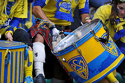 A general view of a Clermont Auvergne fan beating a drum in support - Photo mandatory by-line: Patrick Khachfe/JMP - Mobile: 07966 386802 02/05/2015 - SPORT - RUGBY UNION - London - Twickenham Stadium - ASM Clermont Auvergne v RC Toulon - European Rugby Champions Cup Final