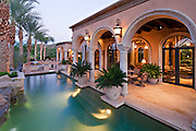 Swimming pool with patio of luxury villa