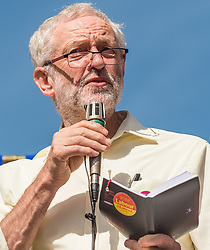 Labour party leader Jeremy Corbyn MP speaking at a leadership campaign rally held at Stoke on Trent town centre<br /> <br /> <br /> (c) John Baguley | Edinburgh Elite media