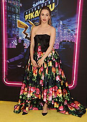 May 2, 2019 - New York City, New York, U.S. - Actor SUKI WATERHOUSE attends the US premiere of Pokemon Detective Pikachu held at Military Island Times Square. (Credit Image: © Nancy Kaszerman/ZUMA Wire)